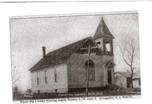 polk church of christ date unknown open belfry